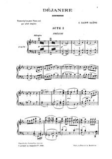 Déjanire: partitura para piano by Camille Saint-Saëns