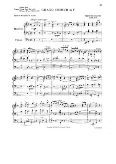 Cinq sorties, Op.68: No.5 Grand Choeur in F by Théodore Salomé