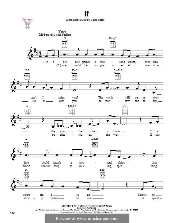 If (Bread): para ukulele by David Gates