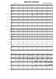 Music For Orchestra: Music For Orchestra by Arthur Orenburgsky