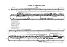 5 songs for tenor and piano: No.2, MVWV 336 by Maurice Verheul