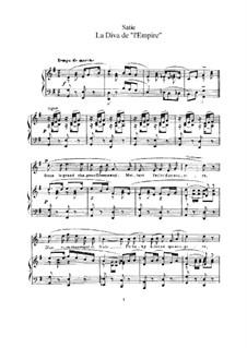 La diva de l'Empire: Para vocais e piano by Erik Satie