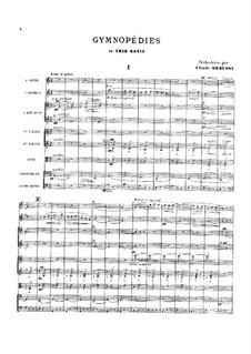 Gymnopédies: No.1, 3. Arrangement for orchestra by Erik Satie
