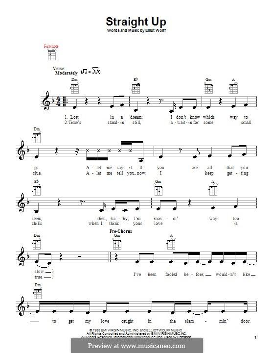 Straight Up (Paula Abdul): para ukulele by Elliot Wolff