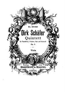 Piano Quintet in D Flat Major, Op.5: Partes by Dirk Schäfer
