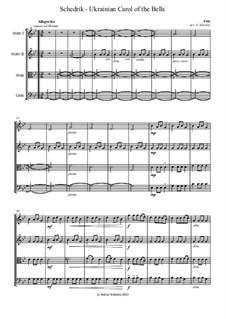 Carol of the Bells: para quartetos de cordas by folklore