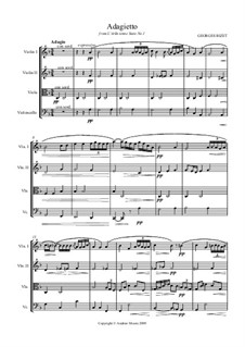 Suite I: Adagietto, for string quartet (or orchestra) by Georges Bizet