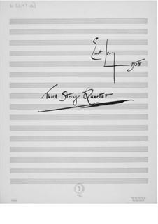 String Quartet No.3: Partitura completa by Ernst Levy