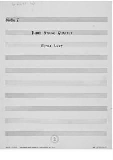 String Quartet No.3: Partes by Ernst Levy