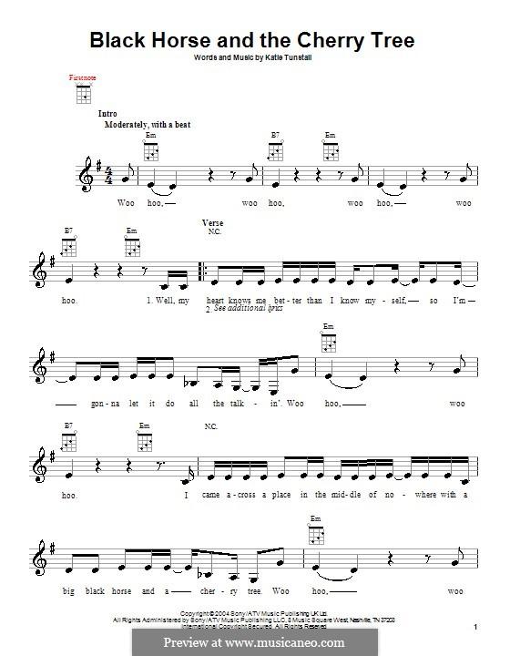 Black Horse and the Cherry Tree: para ukulele by KT Tunstall