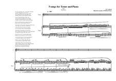 5 songs for tenor and piano: No.3, MVWV 337 by Maurice Verheul