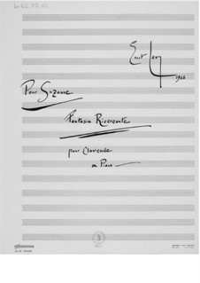 Fantasia Ricercante for Clavichord or Piano: For a single performer by Ernst Levy
