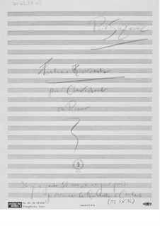 Fantasia Ricercante for Clavichord or Piano: esboços dos compositores by Ernst Levy