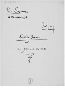 Fantasia Breve for Piano or Clavichord: Fantasia Breve for Piano or Clavichord by Ernst Levy