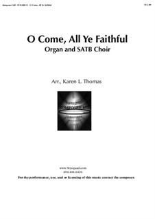 O Come All Ye Faithful: For mixed choir and organ, 9TH.00013 by John Francis Wade