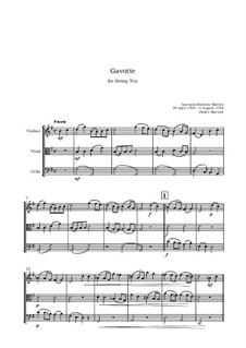 Gavotte: para trio de cordas by Giovanni Battista Martini