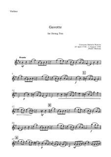 Gavotte: For string trio – violin part by Giovanni Battista Martini