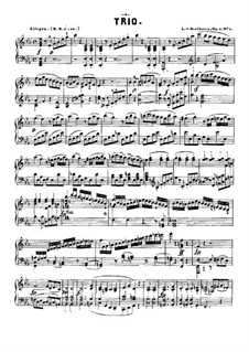 Three Piano Trios, Op.1: Trio No.1, for piano by Ludwig van Beethoven