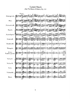 Turkish March: partitura completa by Ludwig van Beethoven
