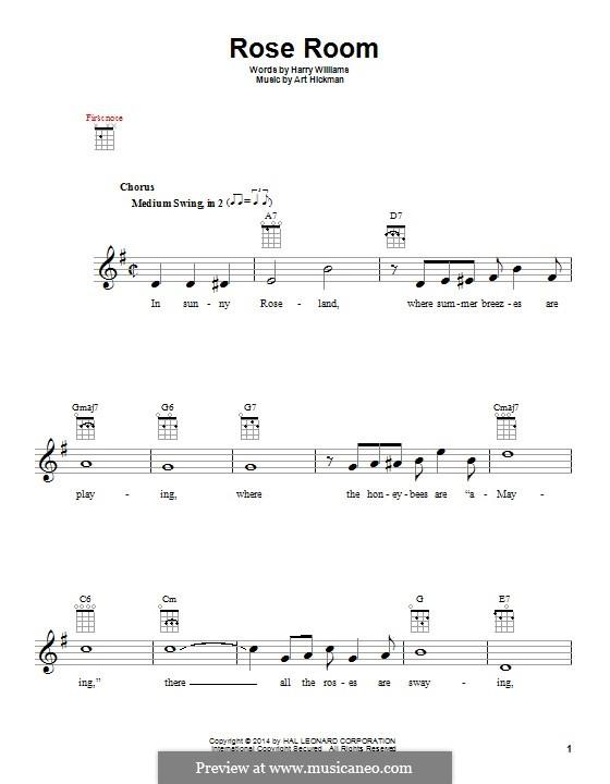 Rose Room: para ukulele by Art Hickman