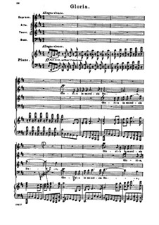 Missa Solemnis, Op.123: Gloria, piano score with vocal parts by Ludwig van Beethoven