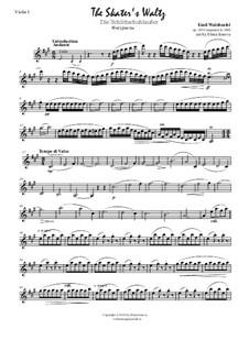 Skater's Waltz: para quartetos de cordas by Émile Waldteufel