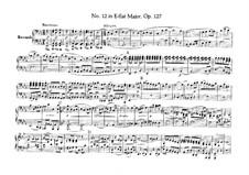 String Quartet No.12 in E Flat Major, Op.127: versão para piano de quatro mãos by Ludwig van Beethoven
