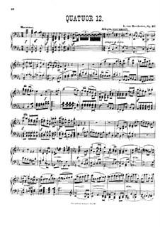 String Quartet No.12 in E Flat Major, Op.127: versão para piano by Ludwig van Beethoven