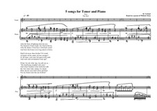 5 songs for tenor and piano: No.4, MVWV 338 by Maurice Verheul