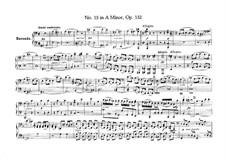 String Quartet No.15 in A Minor, Op.132: versão para piano de quatro mãos by Ludwig van Beethoven