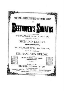Sonata for Piano No.10, Op.14 No.2: For a single performer (Edited by S. Lebert) by Ludwig van Beethoven