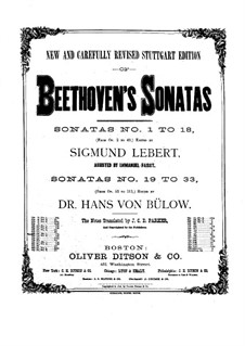 Sonata for Piano No.9, Op.14 No.1: For a single performer by Ludwig van Beethoven
