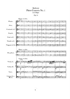 Concerto for Piano and Orchestra No.1, Op.15: movimento I by Ludwig van Beethoven
