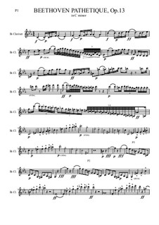 All Movements: para clarinete by Ludwig van Beethoven