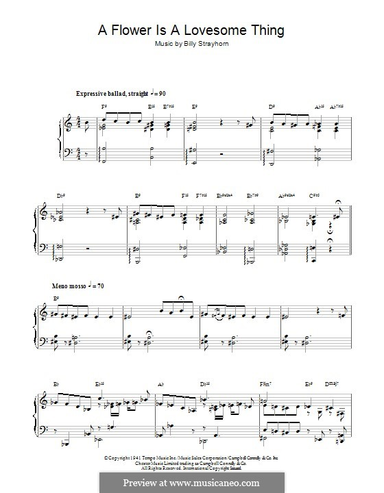 A Flower is a Lovesome Thing: Para Piano by Billy Strayhorn