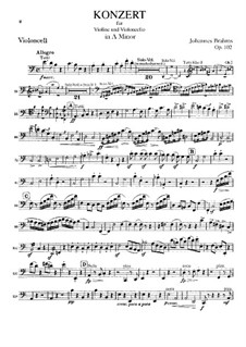 Concerto for Violin, Cello and Orchestra in A Minor, Op.102: violoncelo parte solo by Johannes Brahms