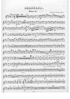 Serenade No.1 in D Major, Op.11: Oboe parte II by Johannes Brahms