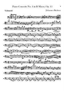 Concerto for Piano and Orchestra No.1 in D Minor, Op.15: parte violoncelo by Johannes Brahms