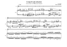 6 Songs for Alto and piano, based on the lyrics of Rilke: Souvenirs de Muzot: No.11, MVWV 385 by Maurice Verheul