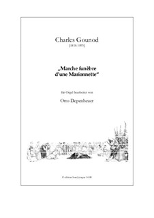 Funeral March of Marionette: para orgãos by Charles Gounod