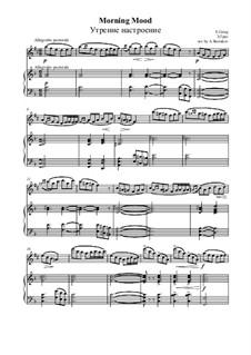 Suite No.1. Morning Mood, Op.46 No.1: para alto saxofone e piano by Edvard Grieg