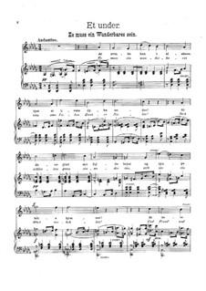 Eight Songs, Op.1: No.3 Et under by Gerhard Schjelderup
