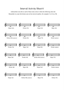 Interval Activity: Sheet 6 (Writing Intervals) by Yvonne Johnson