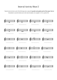 Interval Activity: Sheet 2 (Naming Intervals) by Yvonne Johnson