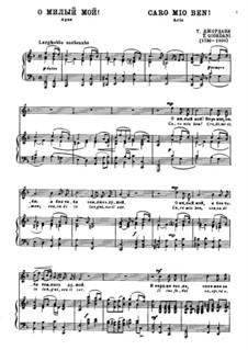 Caro mio ben (O Maiden Dear): Para vocais e piano by Tommaso Giordani
