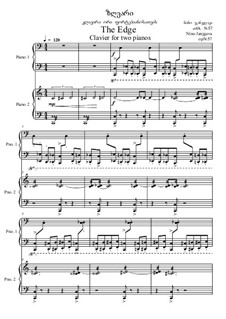 The edge, Op.57: For two piano four hands by Nino Janjgava