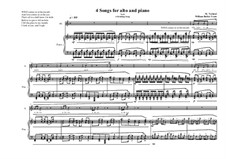 4 Songs for alto and piano, based on poems of William Butler Yeats: No.1, MVWV 373 by Maurice Verheul