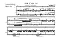 4 Songs for alto and piano, based on poems of William Butler Yeats: No.3, MVWV 375 by Maurice Verheul