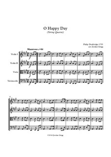 O Happy Day: para quartetos de cordas by Philip Doddridge