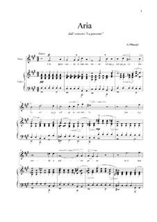 Brockes Passion, HWV 48: Chi sprezzando, for voice and piano by Georg Friedrich Händel